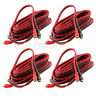 4 Pack DS18 12 Ft 2 Channel RCA Cables Car Audio Shielded Interconnect Amp