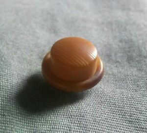 Antique Tiny Top Hat Shaped Vegetable Ivory Button.