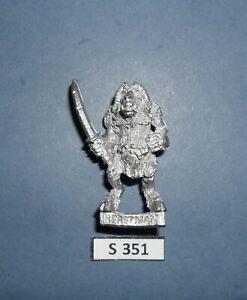 Warhammer Citadel Metal CHAOS BEASTMAN SWORD 4 1991 CAT. BOB OLLEY S 351