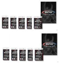 BCW (1000 count) Soft Trading Card Sleeves (10 Packs) For Sports Cards