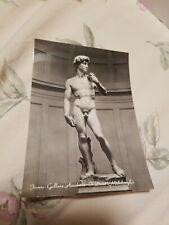Postcard The David Michelangelo Vintage Art Postcard Accademia Gallery Florence