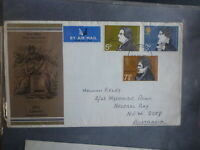 UK 1971 LITERARY ANNIV. SET 3 STAMPS FDC FIRST DAY COVER