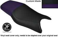 PURPLE AND BLACK VINYL CUSTOM FOR HONDA CBR 600 F 97-98 DUAL SEAT COVER ONLY