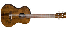 LUNA Uke Flamed Acacia Tenor Ukulele With Gigbag 18 Frets Satin Natural