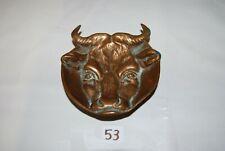 C53 Cendrier en métal - Tête de taureau