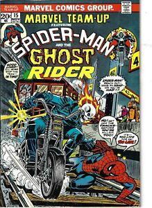 Marvel Team-Up 15 Ghost Rider Spider-Man VG/F 1973 Glossy