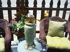 rookwood  beautiful green glaze table lamp