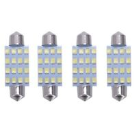 4x SMD LED Light Bulb Car Interior Festoon DC 12V 42mm 16LED White V2Y4