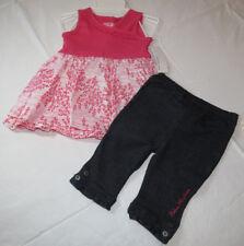 Calvin Klein 12M months  CK  outfit girls 2 pc Dress pants 3602013 pink NWT^^