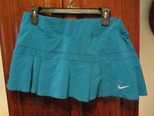 NIKE DRI-FIT Ladies SIZE LARGE Skirt Skort Athletic Tennis Golf Pleated Aqua