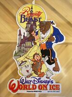 Walt Disney World On Ice Souvenir Pennant Felt Banner Flag Beauty & the Beast