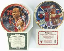 CHICAGO BULLS (Lot of 2) Vintage Upper Deck & Sports Impressions Plates **NEW**