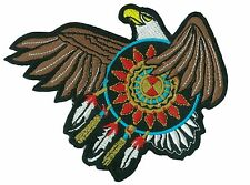 patch badge Eagle Indian Sioux fusible apply patch embroidered