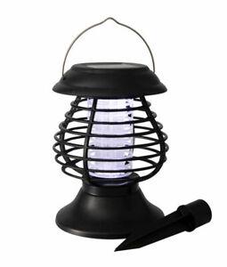 Solar Insektenvernichter UV LED - Moskito Mücken Insekten Falle - Camping Lampe