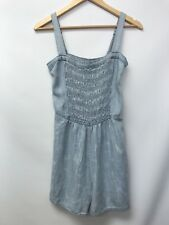 Abercrombie & Fitch Womens Size Small Romper Light Blue Cloud Look