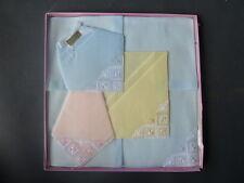 Lot 5 anciens mouchoirs brodés coton tissu vintage french antique handkerchiefs