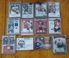 12 Card Hockey Lot Autographs & Jerseys Kessel Hartnell Staal Matteau & more