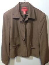 A Line Jacket Size 12 Stretch Button Down Design