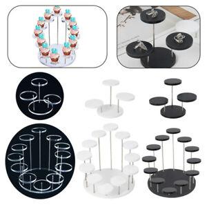 Round Cupcake Stand Acrylic Display Stand Jewelry Cake Dessert Rack PartyWedding