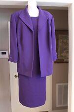 Free Shipping! NWOT Coldwater Creek Purple Sheath  & Matching Jacket - Size 24W