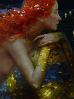 Home Art Decor Fantasy VINTAGE Mermaid Oil Painting Picture Printed On Canvas v6