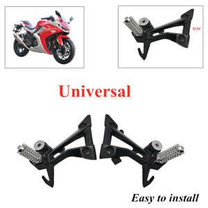 2PCS Motorcycle Rear Peg Footrest Pads Bracket Refit Shift Lever Foot Pedals GM