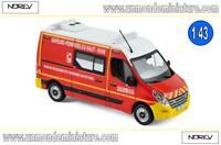 Renault Master de 2011 Pompiers VSAV NOREV - NO 518769 - Echelle 1/43