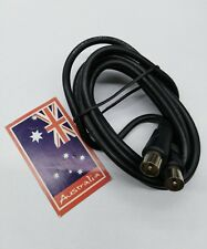 1.8M black TV Antenna Extension coxial cable PAL male to male aerial flylead
