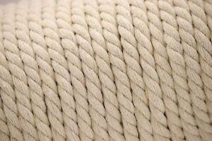 10 m Makramee Baumwolle Geflochten Grau Weiß 8 mm Leine Seil Gartenschnur Diy