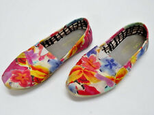 TOMS ONE-FOR-ONE COLORFUL FLOWERS SLIDES/LOAFERS WOMENS SIZE 7US/37EU/5UK - GUC
