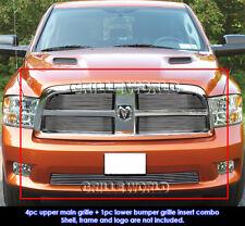 For 2009-2012 Dodge Ram 1500 Sport/Express Model Billet Grill Combo Pack