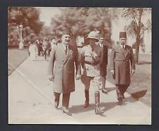 King Edward VIII & King Fuad I of Egypt Abdive Palace 1922 Antique Photo