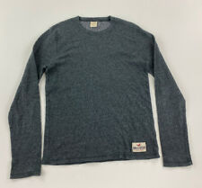 HOLLISTER - Mens Sz Small (S) - Thin Knit Sweater, Cotton/Poly, Charcoal