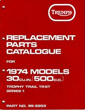 1974 Triumph Trophy Trail TR5T, OIF, OEM, PARTS CATALOGUE, Unissued, ORIGINAL