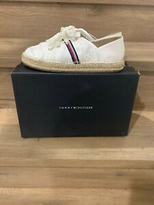 Tommy Hilfiger Flat Espadrille Corporate with ribbon laces, flag and stars