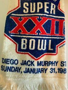 Vintage Super Bowl XXII 1988 Marilyn Meade Hand Towel NFL Football 1985 New