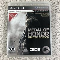 Medal of Honor Limited Edition (Sony PlayStation 3, 2010) PS3 Complete CIB