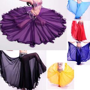 New Belly Dance Costume Chiffon Full Circle Long Skirt Dress Bollywood Carnival