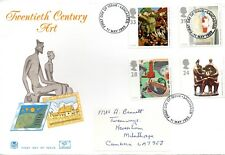 1993 Sg 1667/70 Contemporary Art Stuart First Day Cover Lancaster cancellation