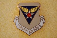 US USA USAF 12th Air Force Military Hat Lapel Pin