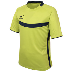 Mizuno Men Training S/S T-Shirt LIme Soccer Tee Top Shirts Gym Jersey P2MA7K0537