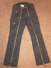Cabela's Men's Outdoor Pants Size Small zipper leg Black Padded Hunting Fishing