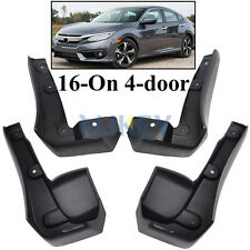 Black Mudflaps Mud Flaps Splash Guards Mudguards For 2016 2017 Honda Civic Sedan