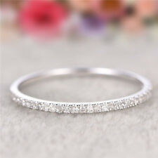 Fashion Women Simple Ring Silver Rose Gold Filled Wedding Jewelry Band Size 5-10