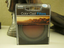 Vivitar Color Cast filters Red with Bower 52-58mm adapter Ring