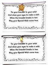 2 x WISH Bracelets/Friendship Bracelets - STAR & BUTTERFLY + Cards