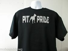 Pit Pride Pitbull Dog Logo T-Shirt w Choice of Colors, Free Shipping in USA