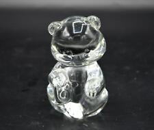 Fenton Clear Glass Bear Paper Weight