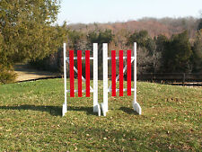 Horse Jumps 3 Panel Solid Colored Wood Wing Standard Pair/5ft - Colors #C202