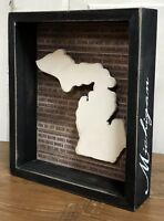 """MICHIGAN State """"Favorite Place"""" Primitives by Kathy Box Sign, 8"""" x 6.75"""""""
